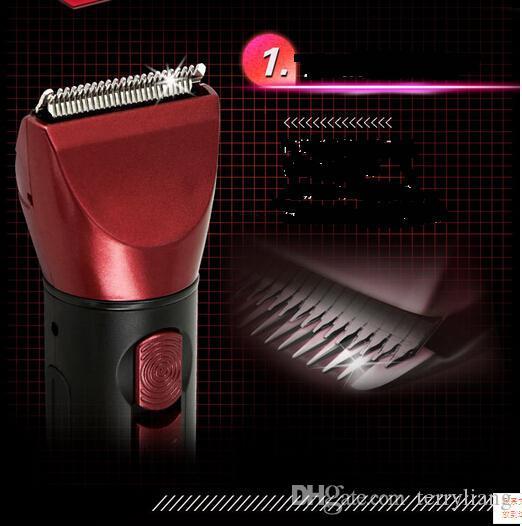 Novo 5 em 1 à prova d 'água profissional máquina de cortar cabelo e aparador barbeiro ferramenta kemei barbeador elétrico homem grooming kit tudo em um