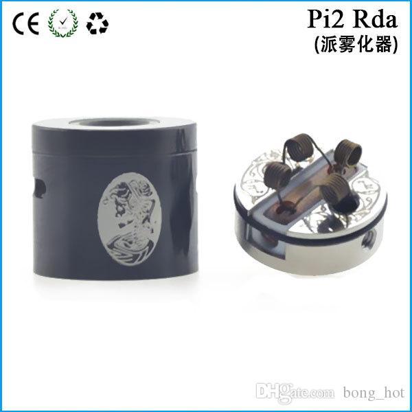 Rebuidable Pi 2 RDA Klon 22mm Durchmesser DIY Zerstäuber mit nicht Post Design Pi2 Tropft Tank Kupfer Kontakt 510 Gewinde