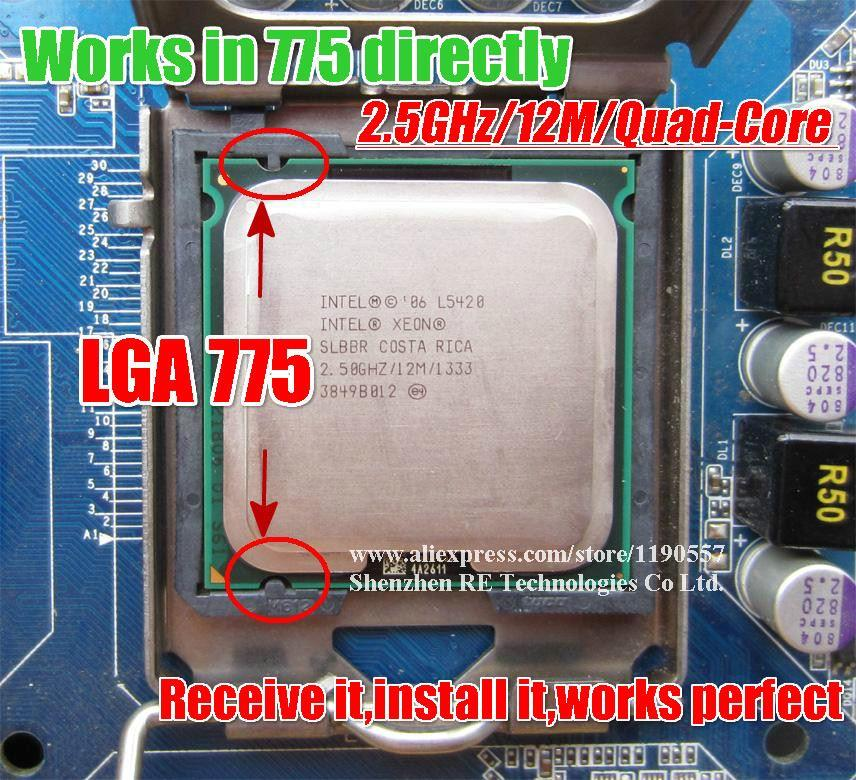 Intel Xeon L5420 CPU 2.5GHz 12MB Cache 1333MHz LGA771 Quad Core Processor SLARP