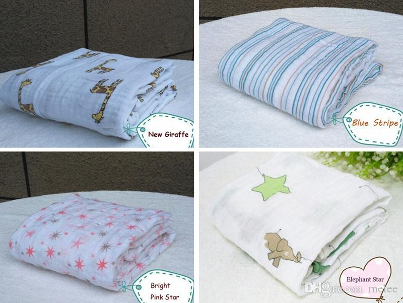 Heißer Verkauf Aden Anais Bettwäsche Quilts Für Babys Neugeborenen Liefert 100% Musselin Baumwolle Baby Decken Cobertor Infantil Weiche Baby Wrap