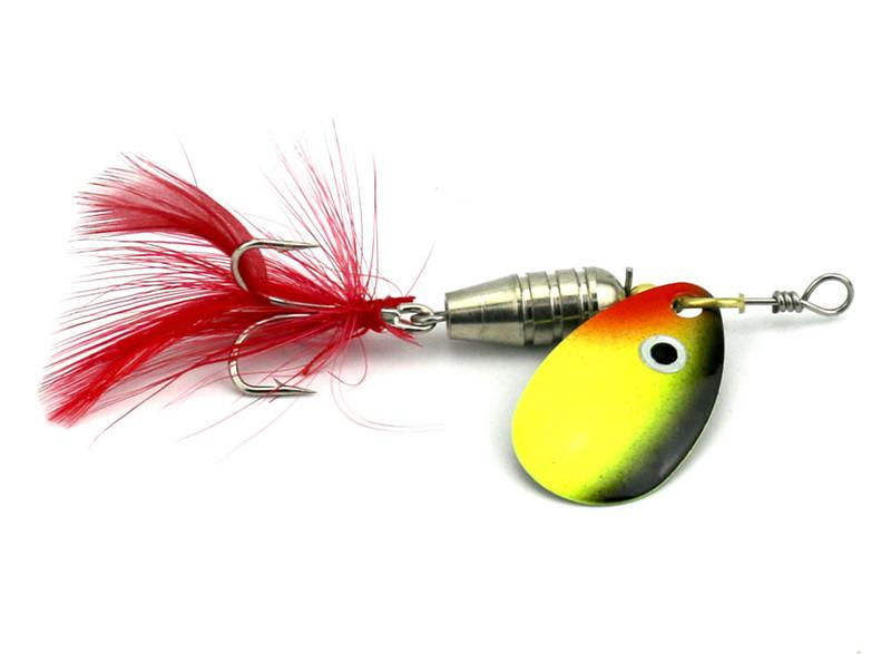 2016 Spinner freshwater bait 6g Vibrative Fishing Lures Lifelike Artificial Metal VIB Jigs Baits Lure Feather Sequins Baits Fishing Tackle