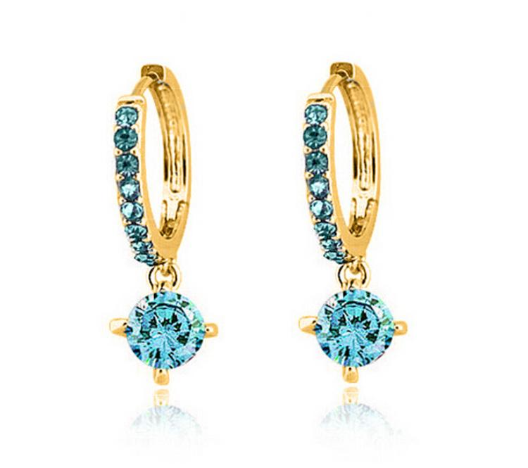 South Korea Classical Zircon Earrings Fashion Alloy Material Females Charm Earrings For Wedding Jewelry Earrings 1018