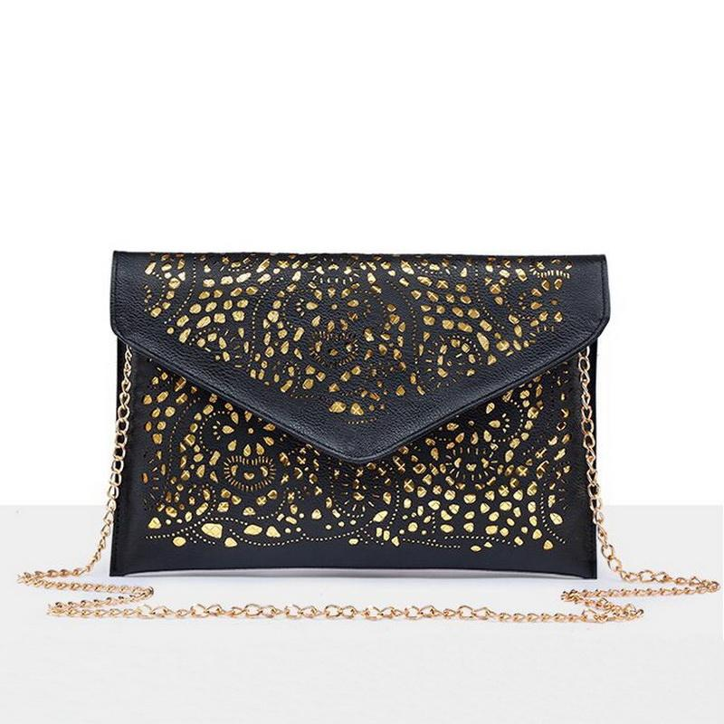 97f78620bb01 Luxury Hollow Out PU Leather Day Clutches Vintage Clutch Bags Design Women Bags  Fashion Women Messenger Bags WLHB1467 Shoulder Bags Designer Purses From ...