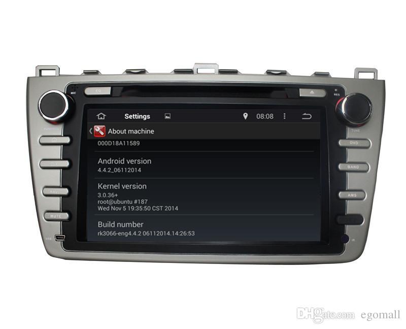Pantalla táctil capacitiva 100% Android 4.4 8 pulgadas DVD del coche GPS para Mazda 6 2008-2012 Soporte DVR OBD Built in WiFi 3G con Canbus