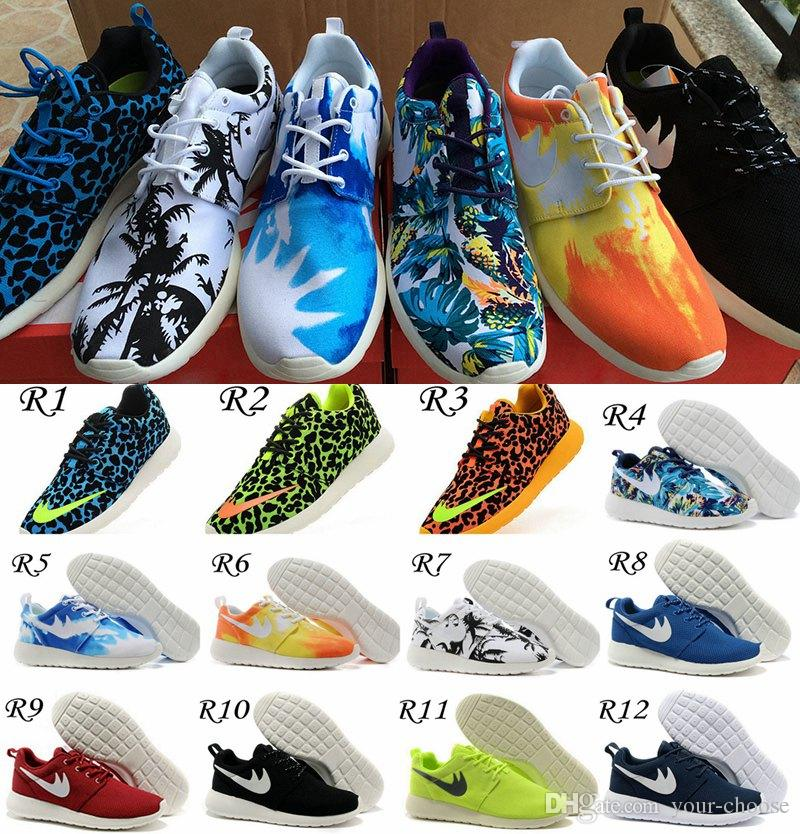 wholesale dealer cab7c 1c724 New Roshe Run FB Shoe Fashion Men Women Roshe Running London Olympic  Walking Sporting Shoes Sneaker Palm Tree Blue Sky Sunset Leopard 36 45  Running Shoes ...