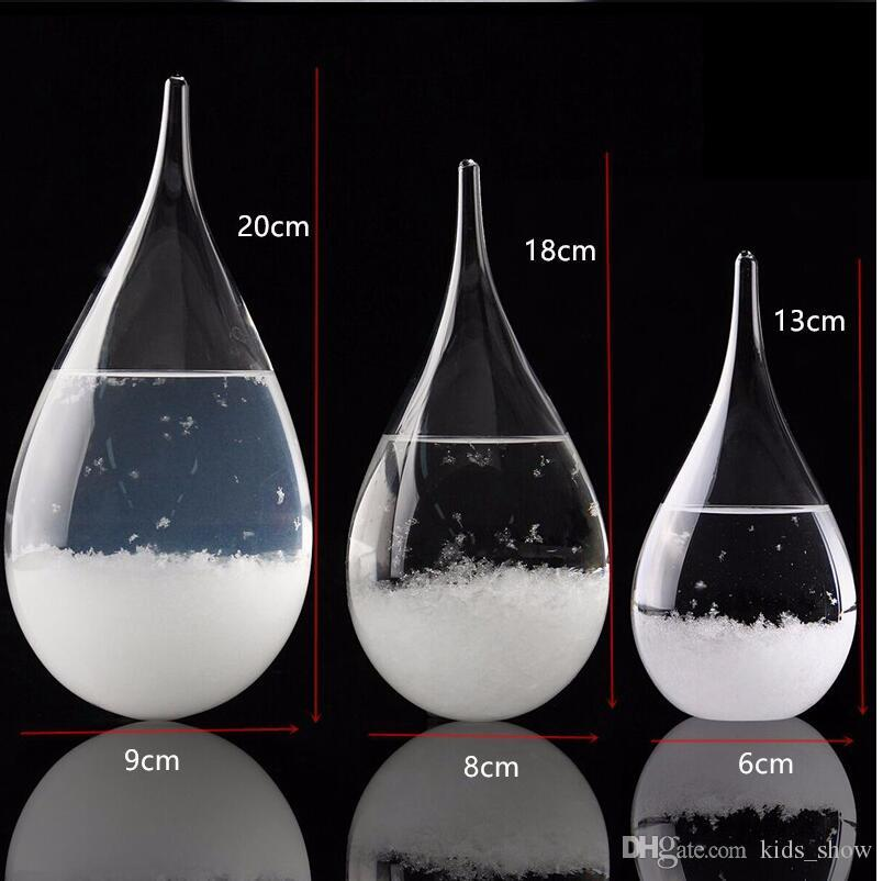 Storm Glass Weather Glass Weather Forecast Bottle Desktop Drops Crystal Tempo Water Drop Globes Creative Storm Glass Craft Arts Gifts
