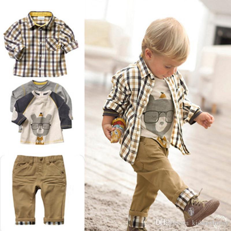 2018 C053 Boy T Shirt Jeans Baby Boys Clothes Suit Kids Clothes Sets