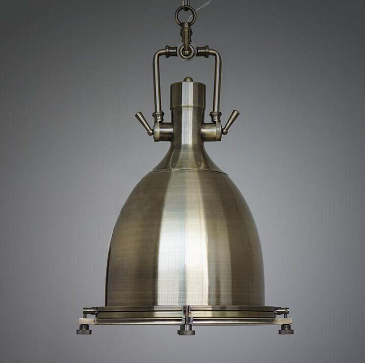 discount rh benson pendant lamp vintage lighting fixture industry style loft light illuminate your kitchen or workplace bronze and chrome color home light - Cheap Light Fixtures