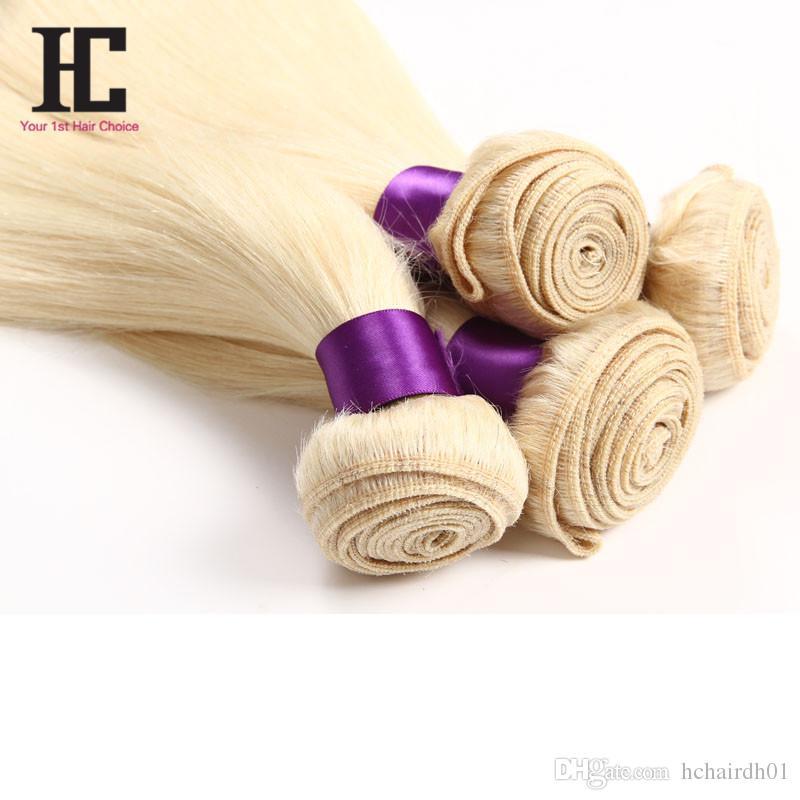 أعلى الماليزية عذراء الشعر مستقيم شقراء 613 لينة الماليزية خياطة في الشعر 3 حزم حريري مستقيم نسج الشعر البشري