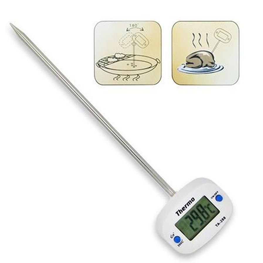 Rotatable Digital Food Thermometer BBQ Meat Chocolate Oven Milk Water Oil Cooking Kitchen Thermometer Electronic Probe