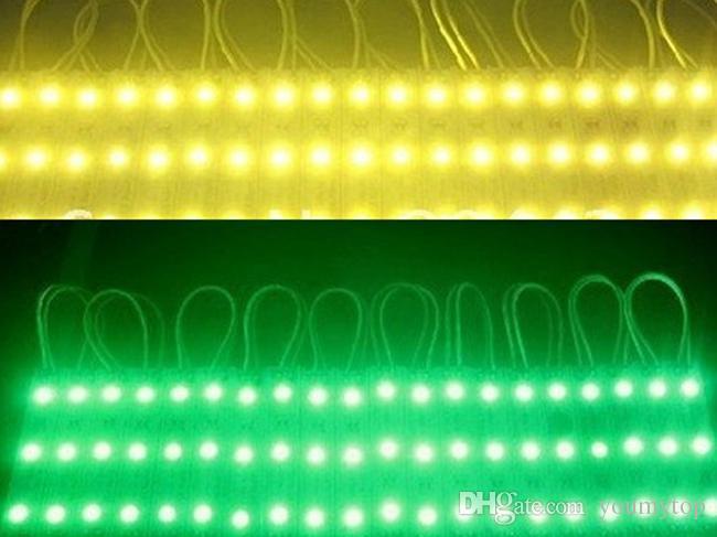 SMD 3528 Módulos de LED para o projeto da carta Amarelo / Verde / Vermelho / Azul / Branco / Branco Quente / cool branco À Prova D 'Água IP65 3 leds DC12V DIODO EMISSOR de Luz