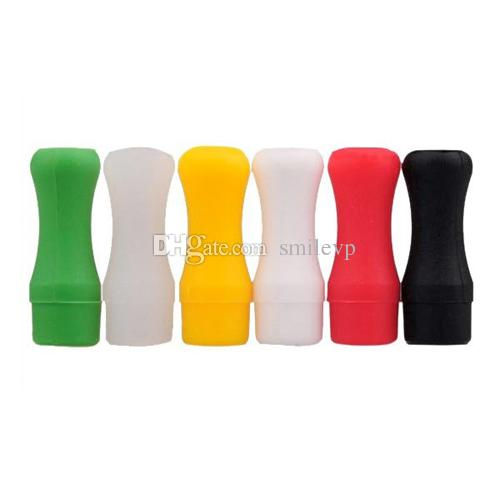 510 Silicone Mouthpiece Cover Drip Tip Disposable Colorful Silicon testing caps rubber short Test Tips Tester Cap drip tips for e cig tank
