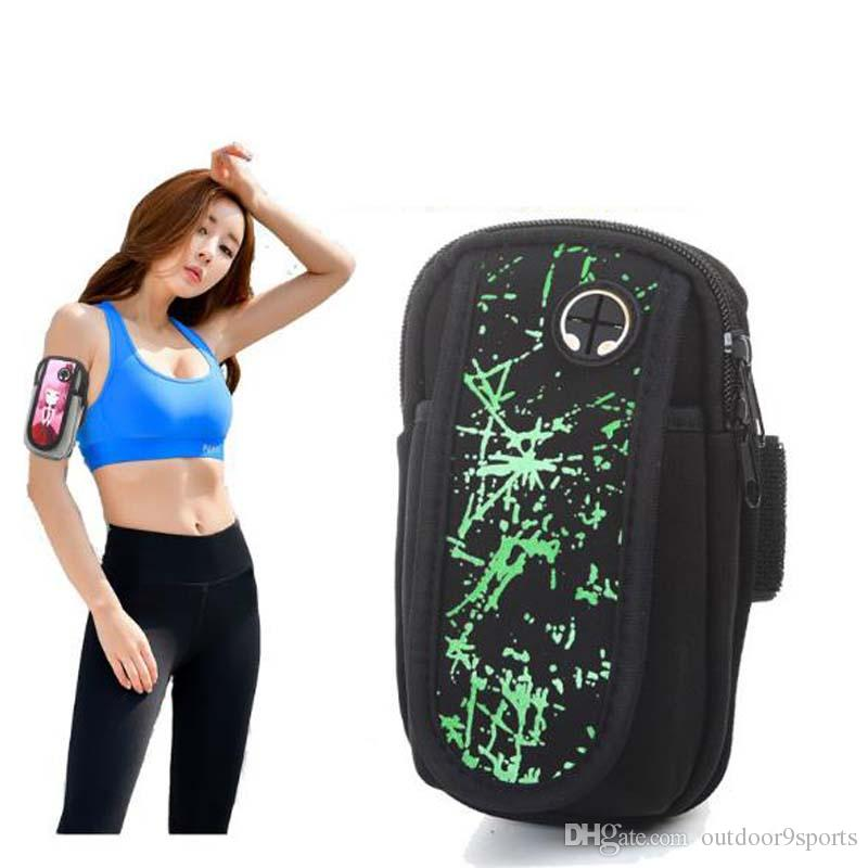 New Multi-color Outdoor Sports Waterproof Cartoon Unisex Mobile Arm Bags Running Sports Arm Bags Outdoor Bags for Sale