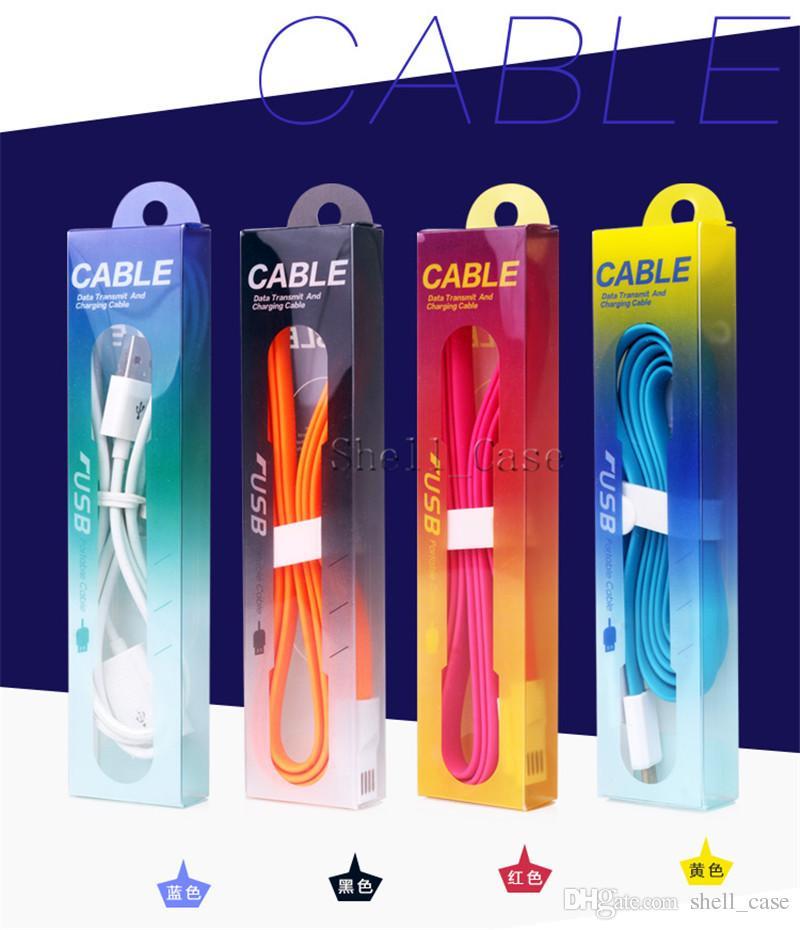 Étanche à la poussière Boîte de vente au détail en PVC vide pour emballage individuel pour ligne de données micro USB, câble de charge, chargeur de fil, écouteur OEM par ur logo