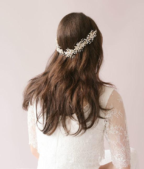 Handmade Wedding Hair Jewelry 2016 In Stock Luxury Bridal Crystal Hair Clips Headband Hair Vine Crystal Pearls Wedding Headpiece Bride