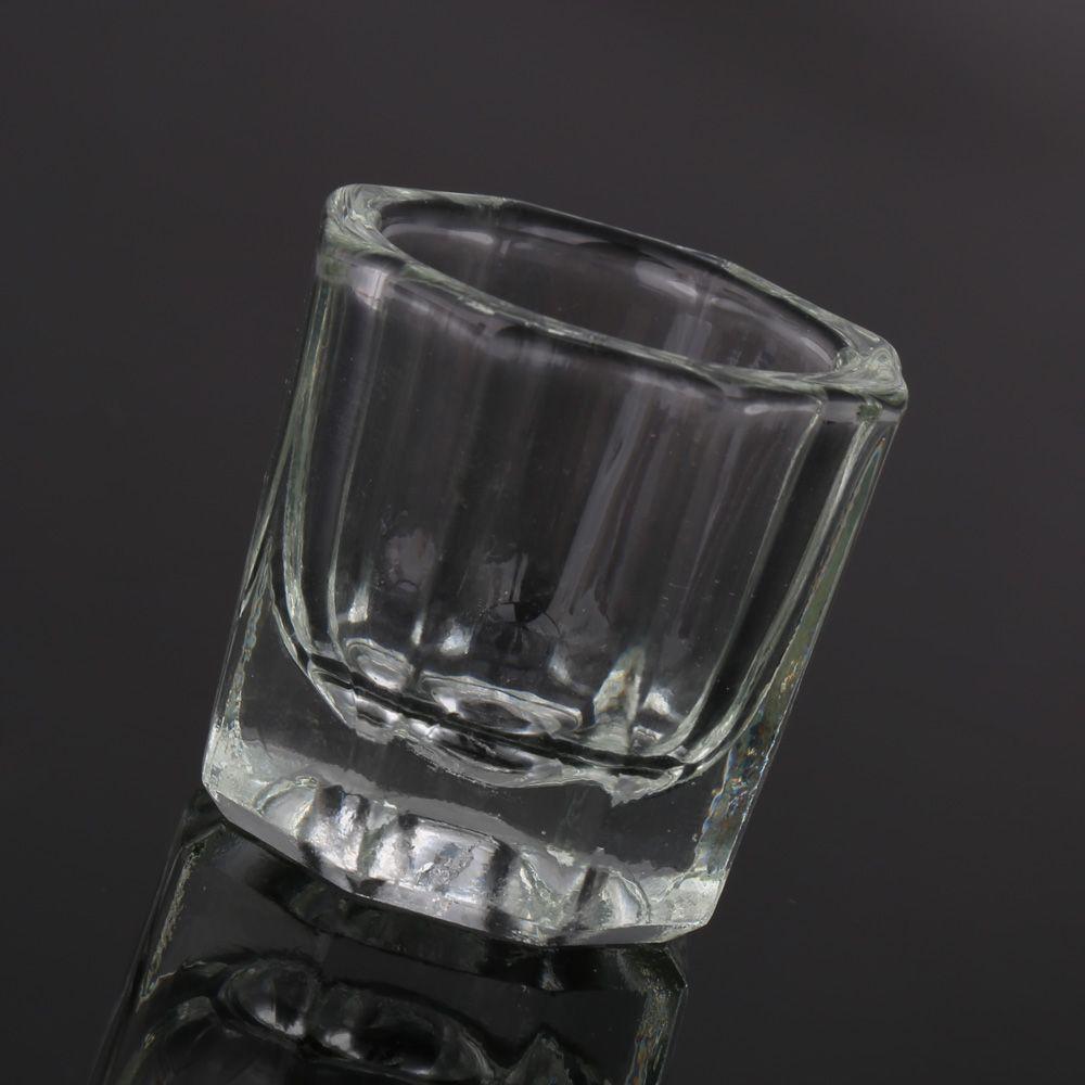 Free Shipping Glass Crystal Cup Acrylic Liquid Powder Kits Nail Art Acrylic Liquid Powder Dappen Dish Glassware Tool Nail tools