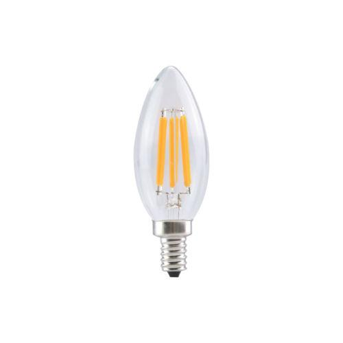 B11 6W Candelabra Base LED Bulbs Filament Bulb Dimmable 60w Incandescent Equivalent E12 Warm White Light