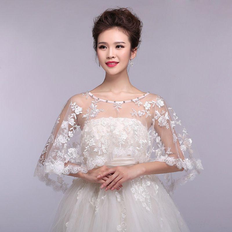 Wedding Gown Wraps: 2019 New 2016 Fashion Elegant Women Lace Bridal Wraps