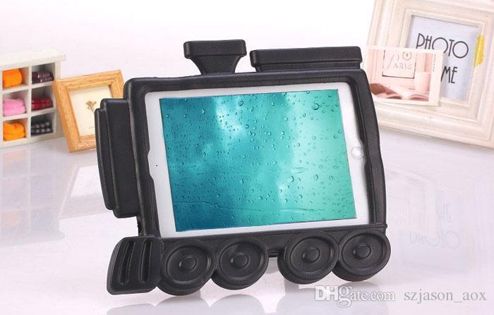 Venta caliente 3D Historieta Linda Trencito EVA Niños Espuma Gruesa Prueba de Choque Suave Stand Volver Funda para iPad mini 3 2