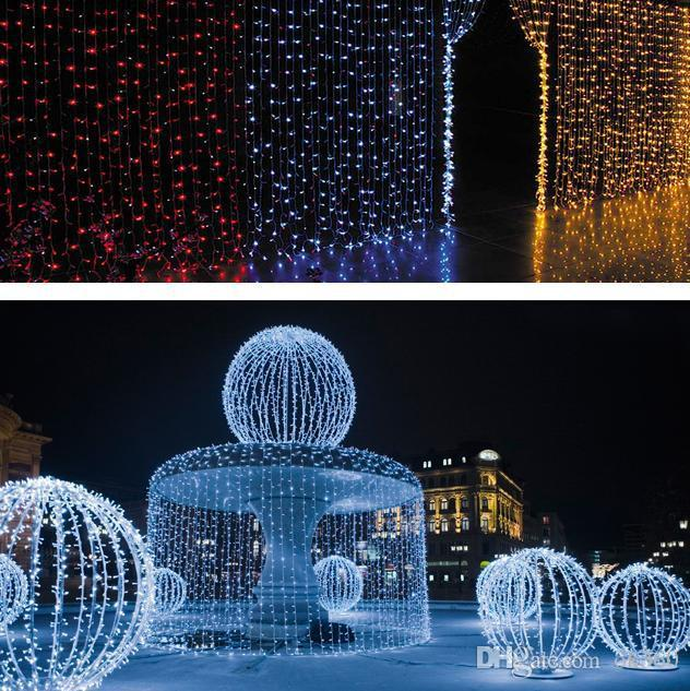 1600 LED lights 10*5m Curtain Lights, led Lighting Strings Flash Fairy Festival Party light Christmas light wedding Decor