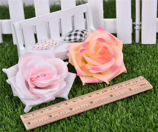 artificiell ros blomma huvuden 14 färger silke peony huvud plast camellia för bröllopsfest hem dekorativa blommor