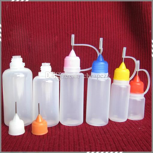 바늘 병 플라스틱 바늘 병 e 액체에 대 한 다채로운 모자 팁 5 ml 10ml 15 ml 20ml 30 ml 50ml 빈 병 DHL 무료