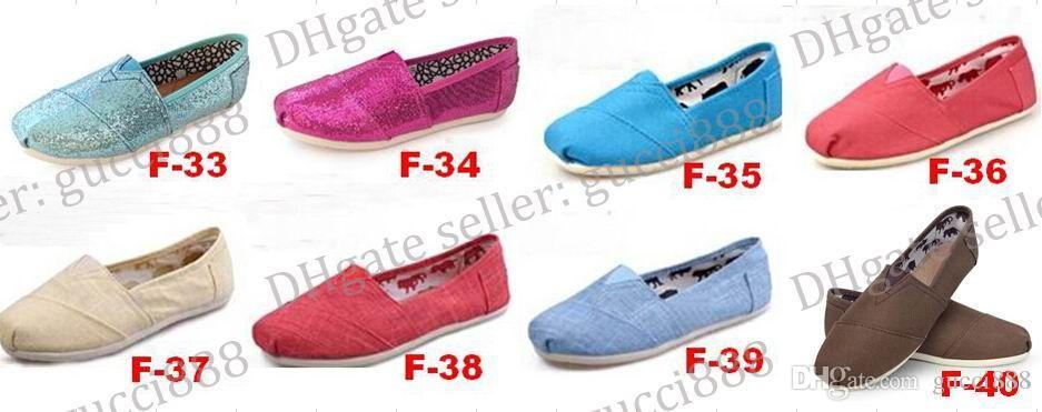 ÜCRETSIZ KARGO Boyutu 35-45 Toptan Marka Moda Kadınlar Katı payetler Flats Ayakkabı Sneakers Kadınlar ve Erkekler Tuval Ayakkabı loafer'lar ...