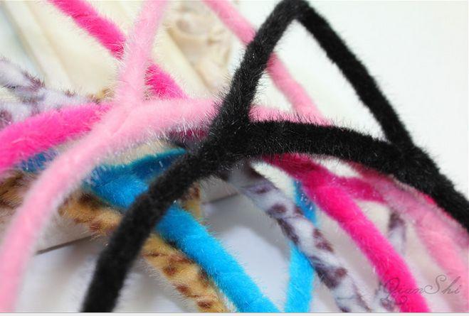Ücretsiz Kargo Renkli Kadın Yenilik Kedi Kulakları Kafa Hairband Seksi Prop Saç Bandı Aksesuarları Şapkalar 20 adet / grup