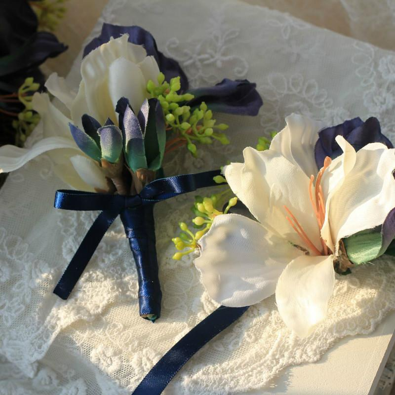 Bride Bridesmaids Wrist Flower Marry Hand Flowers Groom Corsage Corsage