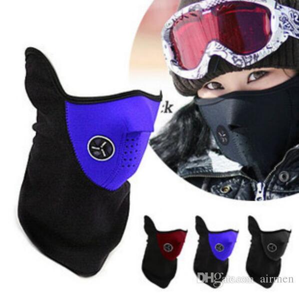 Nouveau 2016 Cou Chaud Demi Masque Visage Masque D'hiver Pour Sport Vélo Vélo Sport Moto Ski Snowboard Vélo Masques