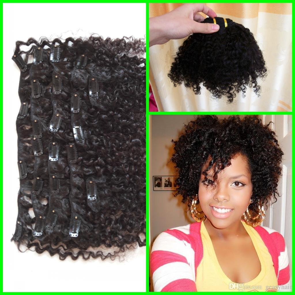 Brazilian Virgin Mongolian Afro Kinky Curly Clip In Hair Extensions