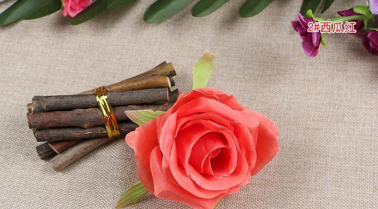 Flores de seda atacado rose cabeças flores artificiais rosa flores de plástico falso flores cabeça de alta qualidade flores de seda frete grátis WF001