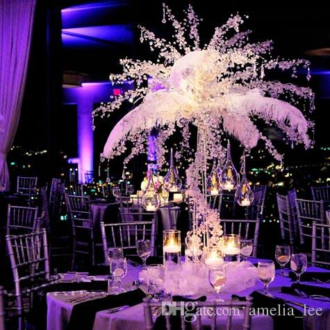 Wholesale royal blue ostrich feathers for wedding decorationtable see larger image junglespirit Image collections