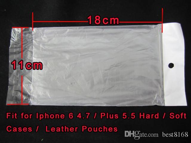 Fosco fosco pacote de Embalagem saco de Retalho De Plástico Poli para o iphone 6 6G 6 S mais S5 S6 Couro Macio Difícil caso de telefone TPU cristalino macio