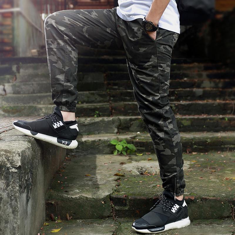 487de687647fb Compre Heybig Brand Mens Joggers Pantalones Hip Hop Flaco Camuflaje Hombres  Pantalones Militares Joggers Moda Harén Pantalones Hombres Skate Sweatpants  A ...