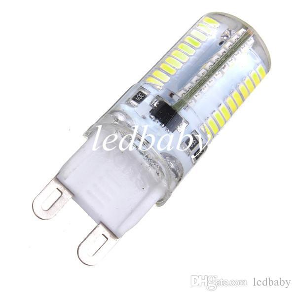 Горячая распродажа G9 3W 80 LED 3014 SMD Crystal силиконовая мозоль света лампы лампы чисто белый теплый белый 110 / 220V