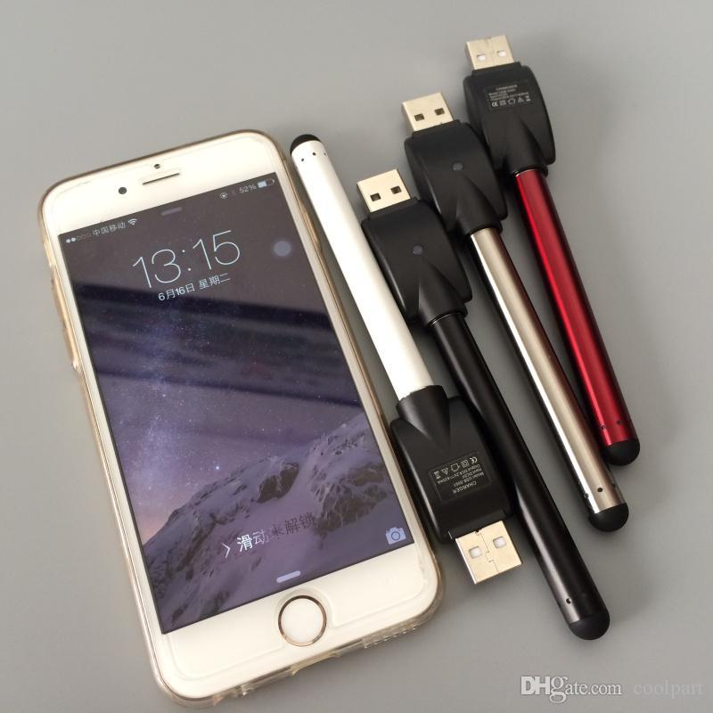 Batteria a 510 fili senza pulsante vape bud touch batteria stylus ecig 280 mAh auto O penna atomizzatore a olio denso