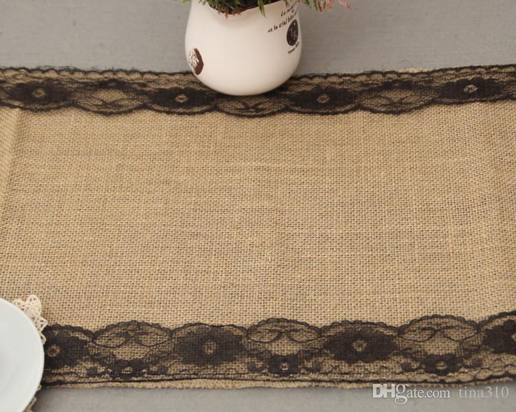 Hot Tischdecken Baumwolle Leinen Tisch Einfache Spitze Tischdecken Europäischen Stil Tischdecken Weihnachtsfeier Dekorationen IB524
