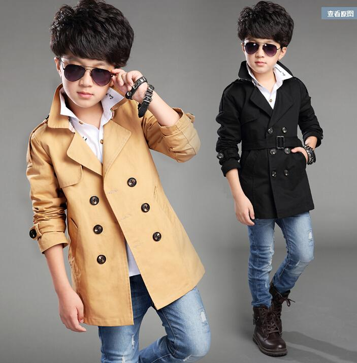 Children's wear the new 2016 boys long coat dust coat in the spring and autumn outfit children cuhk children's han edition leisure coat Dus