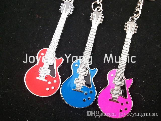 LP Style E-Gitarre Schlüsselanhänger 6 Farben + akustische elektrische Gitarren-Auswahl Plectrums Freies Verschiffen Whole