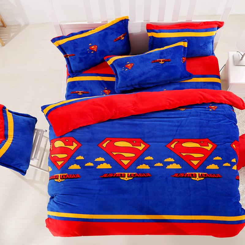 Justice League Flannel Bedding Sets Kids Adults Duvet Cover Set Bed Sheets  Set Twin Queen King Size Halloween Christmas Green Bedding Sets Queen Bedding  Set ...