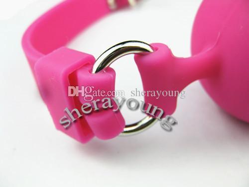 Kölelik Ağız Gags 4.8 cm Silikon Topu Gag BDSM Dişli Köle Yetişkin Seks Oyuncakları Kadınlar için