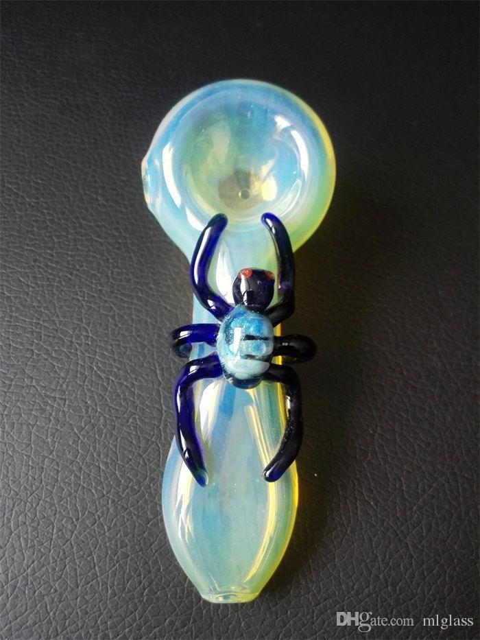 Toptan Cam Borular gümüş tütsü cam karışımı renkler optopus uğur böceği ve örümcek tarzı ile opsiyonel ücretsiz kargo