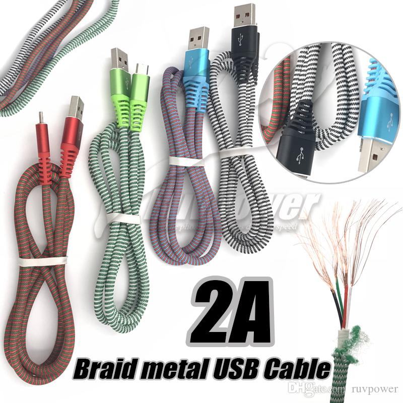 Wondrous High Quality V8 Android Usb Cable 2A Fast Charge Nylon Braided Wire Wiring Cloud Oideiuggs Outletorg