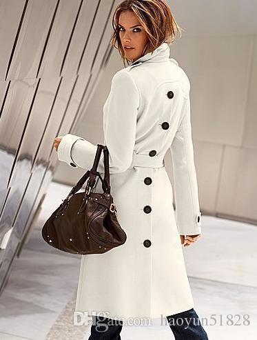 2016 Printemps Mode Femmes Womens LAINE Cachemire Long Manteau D'hiver Blazer Outwear