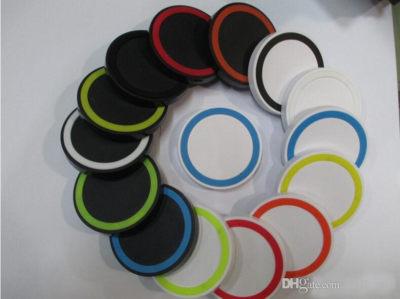 200pcs S6 Qi Wireless Charger Cell phone Mini Charge Pad For Qi-abled device Samsung nokia htc LG cellphone with retail package JE13