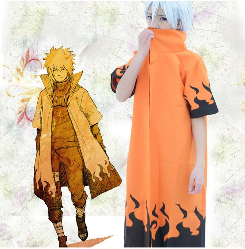 Anime Naruto Cosplay Costume NARUTO Uzumaki 6th Hokage Cloak Clothing Unisex Robe Cape Dust Coat