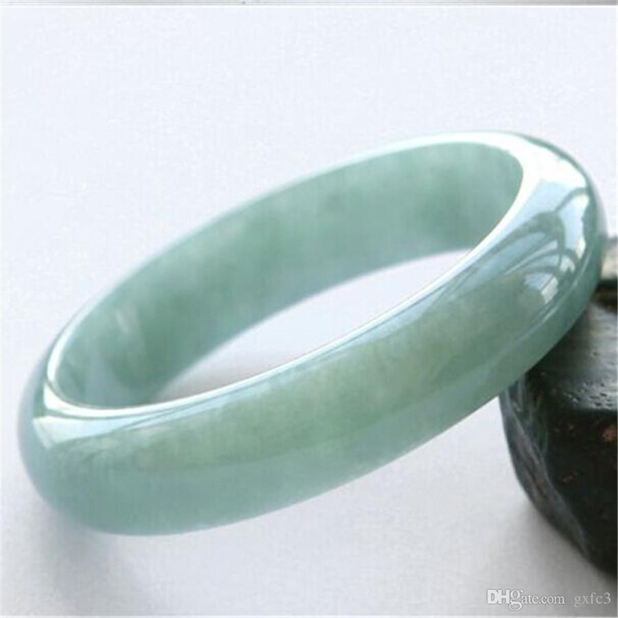 Bracelet de jade naturel La largeur est d'environ 12mm-15mm, le diamètre de 52mm-65mm Livraison gratuite