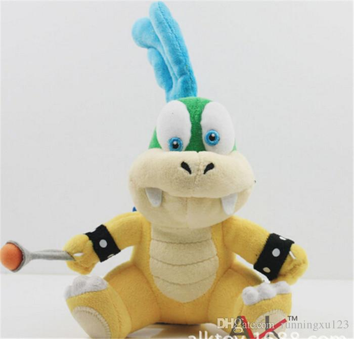 "Cartoon Super Mario plush toys Wendy/Larry/Lemmy/Ludwing/O. Koopa Plush Sanei 8"" Stuffed Figure Super Mario Game Koopalings Dolll D408"