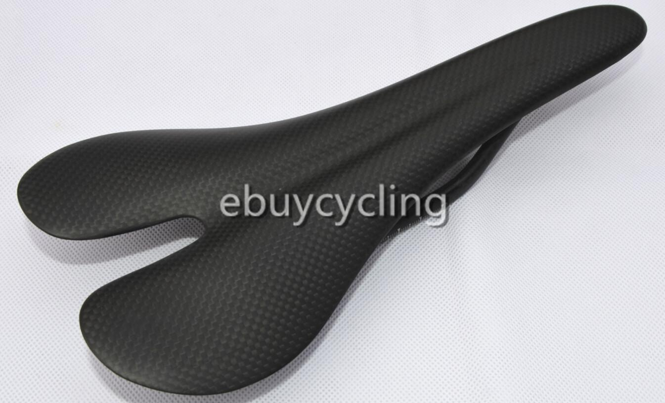 Black carbon bicycle saddle for DIY paint road bike light carbon road bike seat bicycle cushion full carbon fiber saddle seat